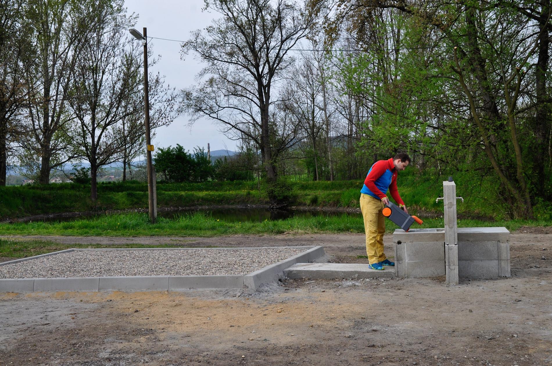 Výlevka na fekální odpad - Karavan kemp Nučničky u Litoměřic
